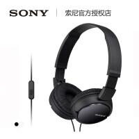 【2年质保】Sony/索尼 MDR-ZX110AP 头戴式耳机有线手机电脑带麦通用重低音耳麦男女学生上网课听歌专用监听