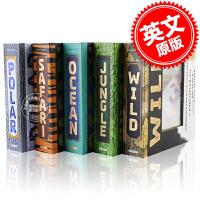 预售 会动的3D立体书套装 英文原版 A Photicular Book: Ocean Polar Jungle Sa