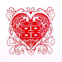 喜字婚房装饰玻璃剪纸静电贴结婚喜字贴纸门贴婚庆用品窗花