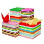 折纸彩色彩纸卡纸剪纸书 a4厚手工纸材料正方形儿童幼儿园千纸鹤手工大张制作玫瑰花DIY多功能