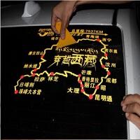 西藏 走进西藏地图贴 秋名赛道贴 反光后挡车贴 后窗汽车贴纸 红色