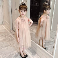 女童连衣裙夏装新款儿童宝宝时尚网纱裙小女孩短袖洋气蓬蓬裙童装