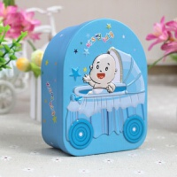 满月酒宝宝诞生礼盒欧式创意喜糖盒百天 喜蛋口铁盒子