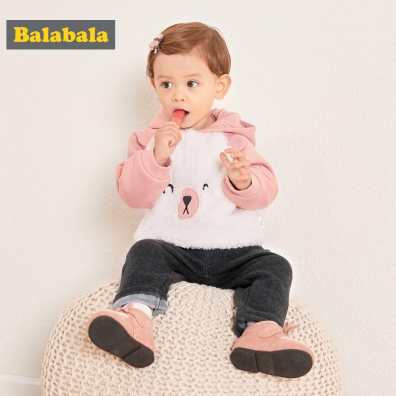 巴拉巴拉婴儿秋冬卫衣宝宝上衣男童打底衫新款连帽韩版女童厚