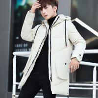 男士外套冬季2018新款韩版潮流中长款棉衣服帅气冬装羽绒服棉袄子