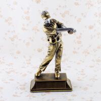 树脂工艺品 运动高尔夫球手家居装饰摆件 奖杯礼品 图片色 CDJ58812.4*6.2*21.7