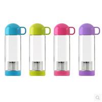 艾可思 创意 米尼玻璃泡茶杯 简约学生水杯 礼品水杯 颜色随机