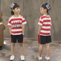 童装男童夏装套装儿童夏季韩版短袖中大童运动两件套潮衣