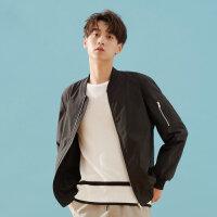 【1件3折到手价:149.7】美特斯邦威夹克男春季新款潮流韩版青少年休闲男飞行员夹克