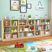 儿童收纳柜子简约现代书架置物架书柜自由组合落地多层简易格子柜