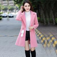 毛呢外套女装中长款韩国2018秋冬季新款韩版显瘦加厚收腰呢子大衣