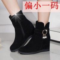 秋冬季新款雪地靴女短筒学生韩版短靴女马丁中筒棉靴内增高女鞋子