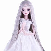 60厘米洋娃娃 假发/头发/发套 夜萝莉SD娃娃可用改妆发型