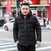 �^年穿的冬天胖子穿的加肥加大羽�q特大�a男�b潮胖��松肥佬外套超大�棉衣