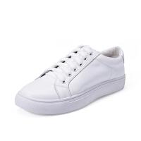 如熙小白鞋女鞋真牛皮休闲鞋系带韩版运动鞋春秋季单鞋板鞋潮鞋