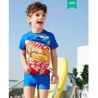 海边运动款卡通蜘蛛侠泳装儿童泳衣连体分体男童中大童防晒速干游泳衣