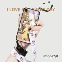 20190530210637517苹果iPhone8手机壳7Plus玻璃卡通8插画女款iPhone6可爱7p文艺6s防