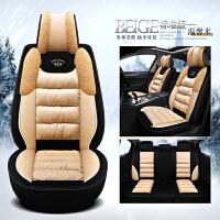 冬季汽车坐垫毛绒短毛绒保暖座垫冬天羽绒男女士可爱全包通用座套