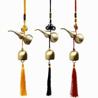 个性挂件 出入平安吉祥铜葫芦汽车饰品车载风铃纯铜风水铃铛