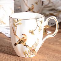 欧式精美马克杯陶瓷咖啡杯子高档复古大容量水杯办公室茶杯早餐牛奶杯