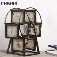 欧式复古摩天轮相框创意房间卧室小饰品酒柜个性家居装饰美式摆件