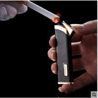 便携时尚个性防风打火机气体充气电子金属男女户外点烟器