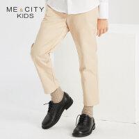 【1件4折到手价:107.6】米喜迪mecity童装秋装新款男童西裤式收脚口梭织长裤