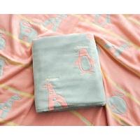 纱布浴巾 婴儿纯棉盖毯 六层加厚新生儿童宝宝空调毛巾被柔软透气