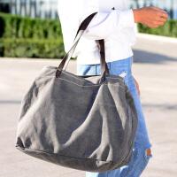 女包2016新款韩版帆布包女士包手提包单肩包大容量时尚休闲大包包