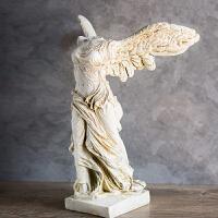 胜利女神雕像欧式天使雕塑客厅玄关装饰品家居创意摆设书房书柜样板间装饰工艺品
