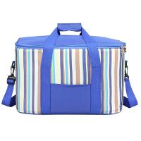 大号保温包加厚铝箔保暖户外野餐包大容量食品保鲜袋送餐包外卖箱 蓝色34L 送冰袋2个