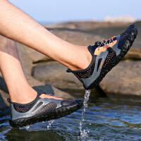 夏季户外涉水鞋防滑男士沙滩凉鞋男五指溯溪鞋男速干两栖排水鞋男