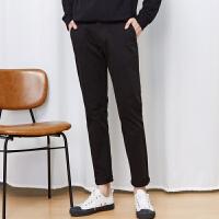 美特斯邦威旗下 4M休闲裤男士春装新款都市基本款时尚潮流舒适棉质长裤