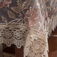 蕾丝水溶花边台布圆桌方桌麻将桌布电视柜茶几餐桌布网纱绣花盖巾