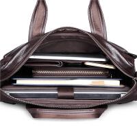 手包男士包包单肩包横款商务公文包男牛皮斜挎包休闲手提包