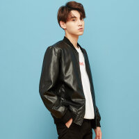 【1件2.5折到手价:93.8】美特斯邦威夹克男外套男装韩版青少年修身潮流棒球服bf休闲夹克