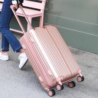 行李箱男士拉杆箱旅行箱学生密码皮箱子万向轮20寸24寸26寸28寸潮 玫瑰金 20寸