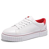 冬季个性小白鞋男韩版潮流白色板鞋男学生2018新款平底百搭白鞋男软底