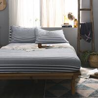 水洗棉单件床笠 棉1.5m1.8米床罩席梦思床垫保护套全棉床单