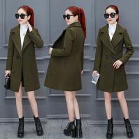 毛呢外套女中长款秋冬装新款韩版修身矮个子呢子大衣冬季衣服