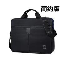 戴尔电脑包14寸15.6英寸笔记本包男女式单肩手提包简约商务公文包