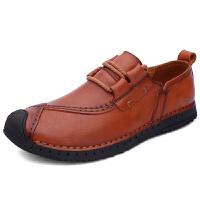男休闲鞋英伦时尚系带潮流皮鞋软底透气青年韩版日常皮鞋驾车子男