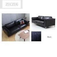 ZUCZUG日式简约小户型客厅咖啡厅皮艺沙发北欧单人双人三人皮沙发椅