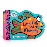 【全店300减100】英文原版 Little Fish and Mommy 小鱼和妈妈 儿童英语启蒙趣味图画书 造型纸板