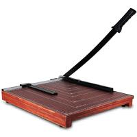得力8002切纸刀 A3裁剪刀 木质裁纸机 手动裁纸刀 相片切割机