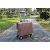 18寸迷你行李箱女韩版小型16拉杆箱商务登机男横款箱子20旅行皮箱 玫瑰金 普通款