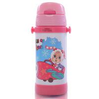 儿童卡通保温杯水杯 不锈钢带吸管水壶杯子 学生保温瓶保温水壶 吸管杯 学饮杯
