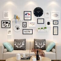 家居生活用品北欧照片墙客厅背景墙面装饰创意个性挂墙相框组合简约现代相片墙