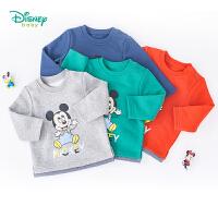 【2件3折到手价:47.4】迪士尼Disney童装 男童迪士尼米奇套头卫衣 春秋新品抓绒系列卫衣193S1164