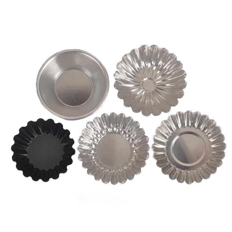 烘焙工具烤箱家用铝合金不粘反复使用布丁菊花盏铝制葡式蛋挞模具